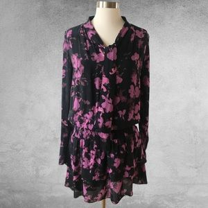 PARKER Marybeth Silk Winter Floral Dress Small